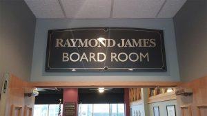 Raymond James Board Room Indoor Sign