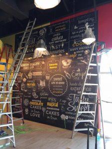 Decals vinyl wall mural indoor install 225x300